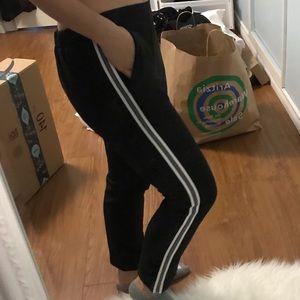 ZARA KIDS Black Pants with Side Stripes